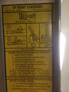 Tallescope upright scaffold