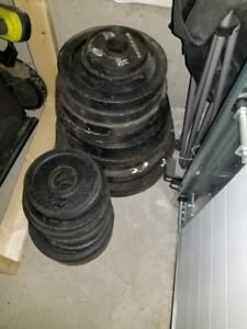 625 lbs of weights plus bars