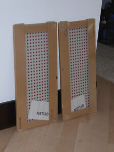 2 NEW IKEA Gyllen glass shelves with red dots $3 ea or both $5 Kitchener / Waterloo Kitchener Area image 1