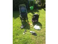 Mamas & papas solo travel system including isofix base & loads of extras