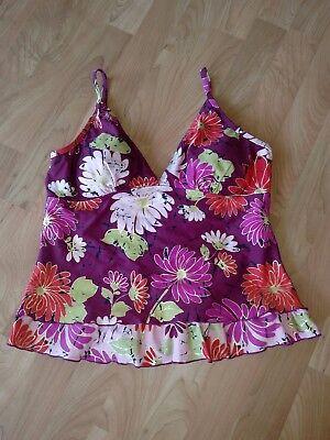 Your Best Look YBL Womens Tankini Size 12 Multi-Color Swimwear Burgundy (Your Best Look Swimwear)