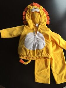 Size 12 mo, craters Lion Halloween costume