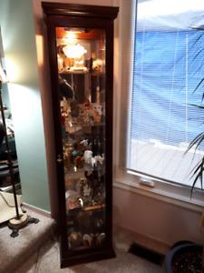 Corner Curio Cabinet   $130