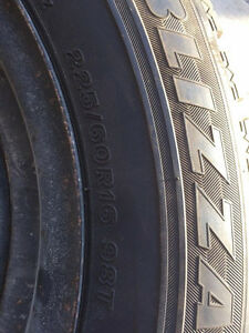 Blizzak Snow tires and steel rims Cambridge Kitchener Area image 2