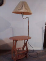 Lamp and side table Pair