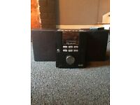 CD, DAB, radio hi fi unit with speakers Wharfdale