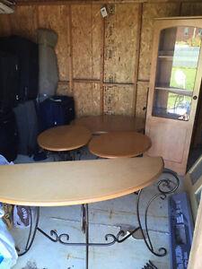 Ensemble de table en bois pour salon ou salle familiale