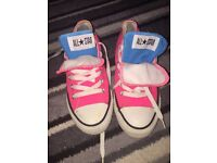 Neon pink converse