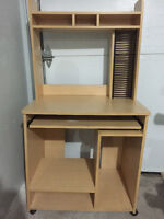Computer Desk with CD Rack