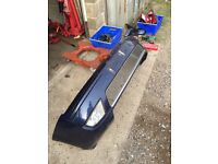 Ford Mondeo MK3 titanium X front bumper with fogs metallic blue