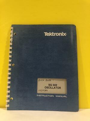 Tektronix 070-1430-01 Sg 502 Oscillator Instruction Manual