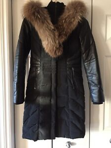 Danier long winter parka - size Small Kitchener / Waterloo Kitchener Area image 1
