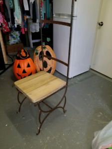 Pour projet de chaise extérieur en fer forgé
