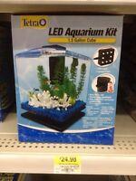Aquarium TETRA 1.5 gal avec filtreur et lumière del