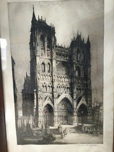 Andrew Affleck etching of cathedral
