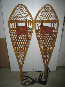 Vintage Indian Made, (GROS LOUIS CANADA) Snowshoes