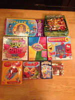 Set of 9 board games