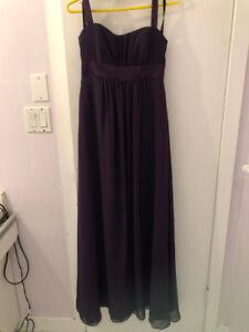Plum/Eggplant/Purple Bridesmaid Dress