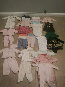 0-3 Months Girl Clothing