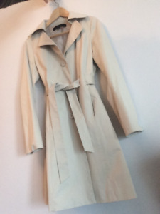 Calvin Klein Spring Trench Coat - Cream