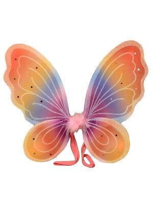 Flügel Engel Schmetterling Fee Kostüm Schmetterlingsflügel Glitter - Flügel Regenbogen Kostüm