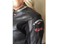 Men's Leather Motorcycle Jacket Teknic Tasc