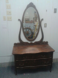 beautiful antique dresser with mirror
