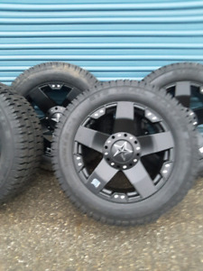 """*** 4 ALL NEW ROCKSTAR WHEELS AND TIRES 20"""" 6X139.7"""