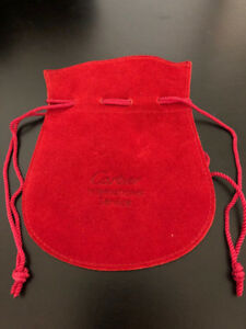 Authentic CARTIER Red Watch/Jewellery Pouch