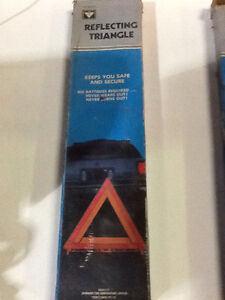 VINTAGE CANADIAN TIRE Reflecting Triangles Road Safety $7 each