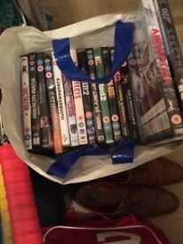 Job lot of DVDs films plus many box sets
