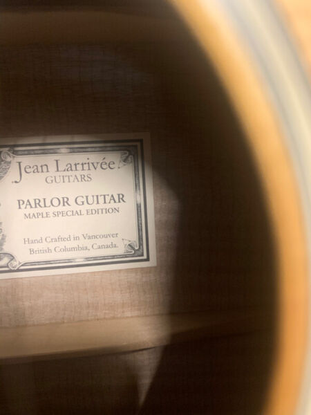 Very nice larrivee parlor guitar, flame maple special edition
