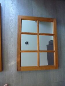 Pine Window Mirror