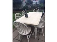 5 ft X 3 ft farmhouse table and chairs