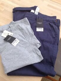 Ladies next size 14 brand new chinos and top