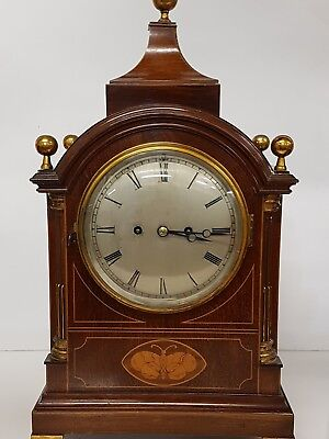 Stunning Mahogany Double Fusee Bracket Clock, Fabulous Inlayed Case