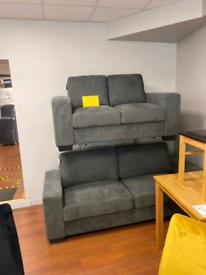 4. Special offer 3+2 grey fabric sofa