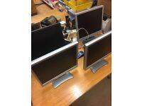 4 x PC screen monitors second hand