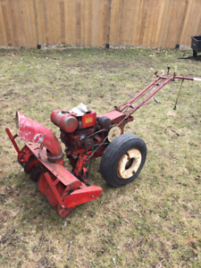 Simplicity Walk behing tractor with snowblower attachment