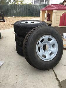 235/75/15 Studded Winter Tires on 6 bolt Steel rims - GMC Caynon