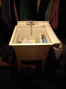 Building laundry Tub and taps