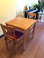 Small kitchen table and chairs for sale!