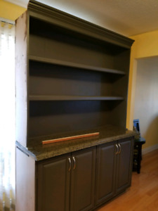 Shelving with Granite Counter
