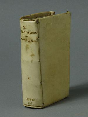 De rebuspublicis - Thomas von Aquin - Philosophie Theologie Mittelalter - 1651