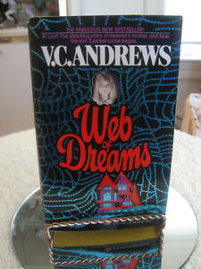 "A BEST SELLER NOVEL by VC ANDREWS  ""WEB of DREAMS"""