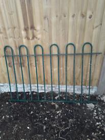Green metal railing