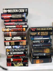 Hardcover Stephen king books in great condition!