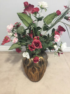 Vase with flowers decoration