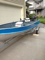 14' Lund fishing boat with trailer