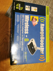 LINKSYS WUSB54GR 2.4 WIRELESS-G NETWORK ADAPTER WITH RANGE BOOSTER